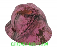 Extreme Hardhats Mothwing Winter Pink Mimicry Camo Hard Hat