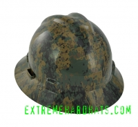 Extreme Hardhats Woodland Digital Military  Camo Hard Hat